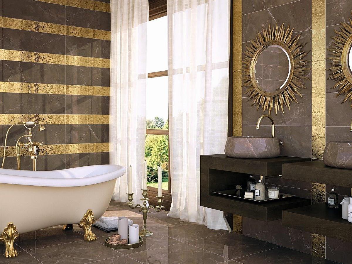 Золотая отделка стен