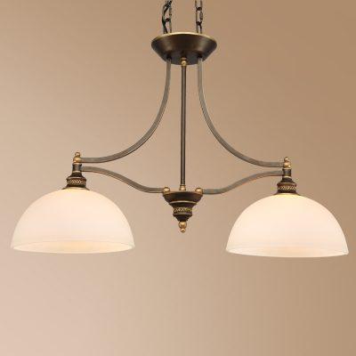 Люстра с двумя лампами
