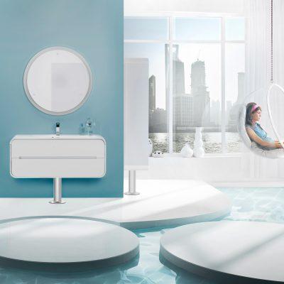 Ванная в голубом стиле