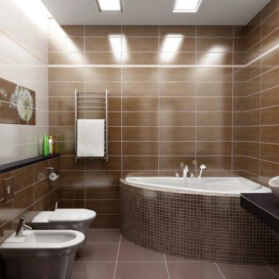 Пример ванной комнаты на фото примере