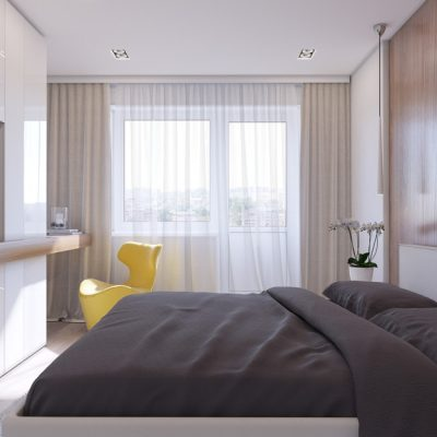Современная спальня для молодой пары