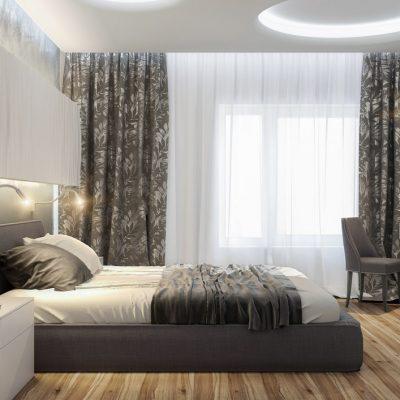 Палас в интерьере спальни