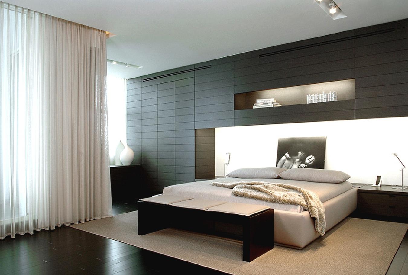 Стандартное оформление спальни в современном стиле