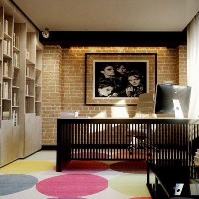 Стильный кабинет лофт стил