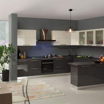 Строгий цвет модерна кухни