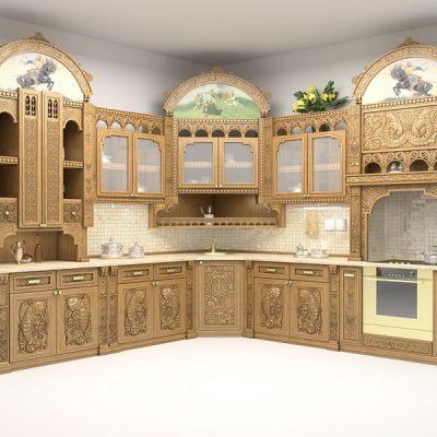 Шкафы в русском стиле угловые