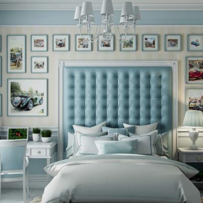 Классические детские на примере мебели с кроватью