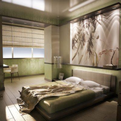 Хозяйская спальня с картиной