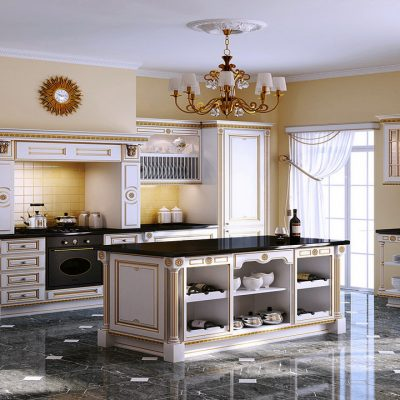 Кухня на плитке
