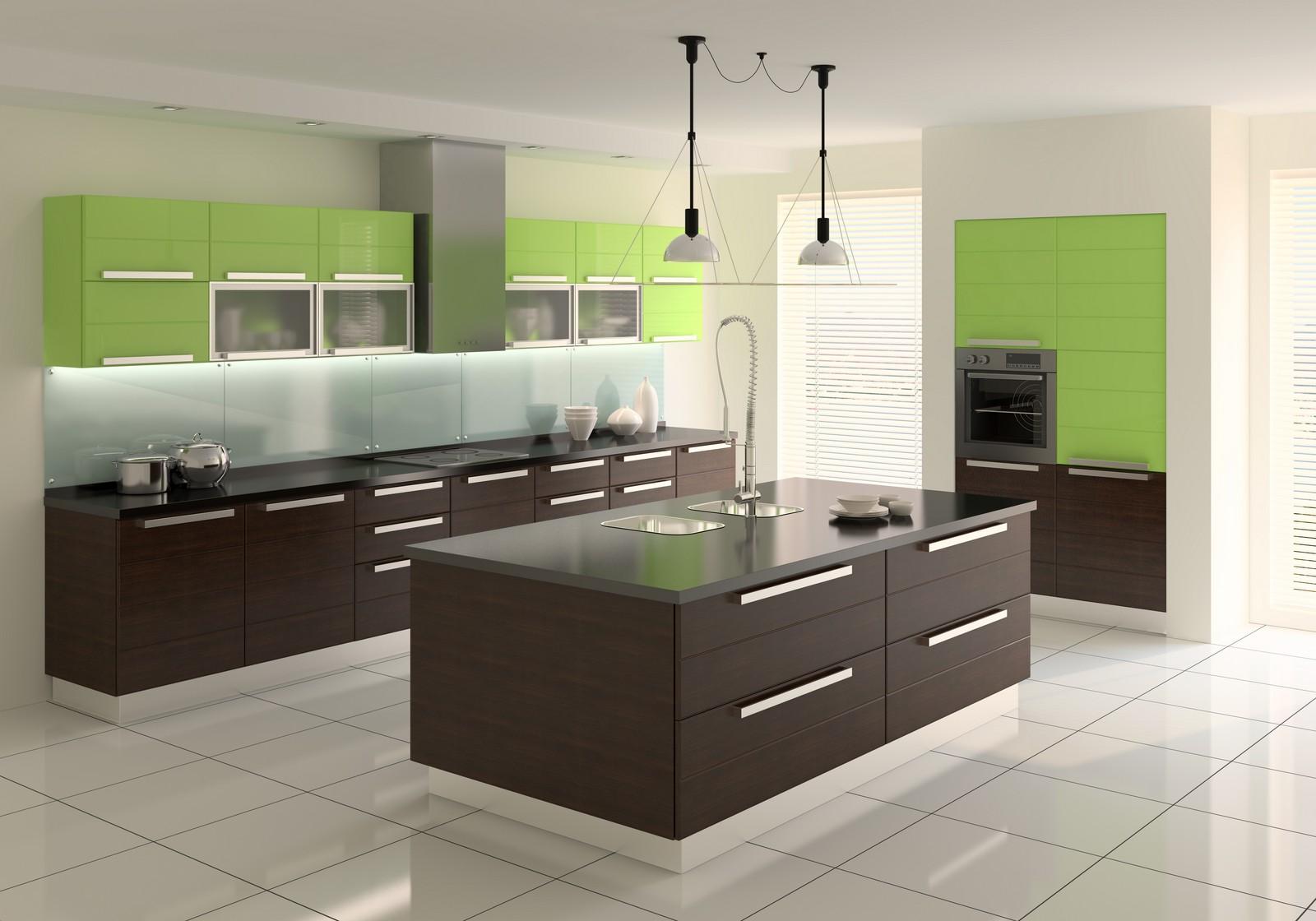 Отличный контраст цвета кухни