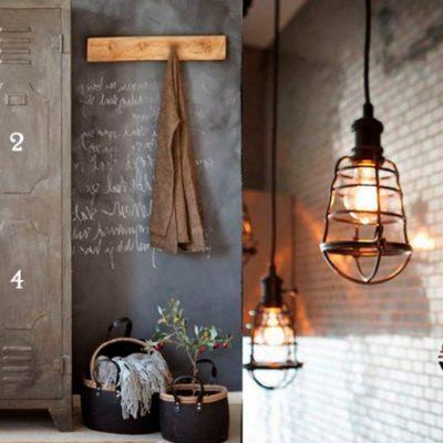 Лофт стиль в интерьере прихожей на фото примере