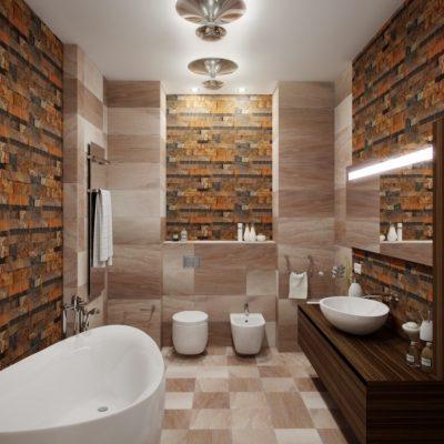 Модная комната ванной на фото