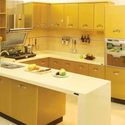 Желтый цвет кухни в стиле модерн