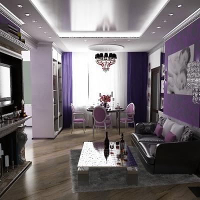 Стильный дизайн комнаты гостиной в арт деко стиле на фото