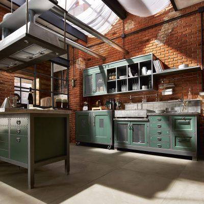 Зеленый оттенок кухни
