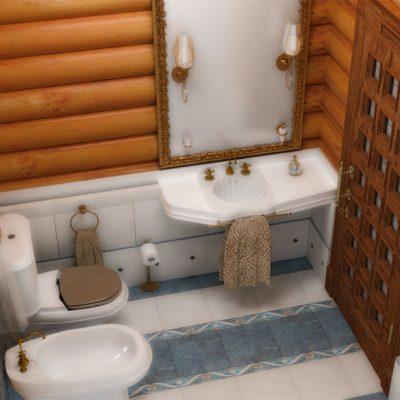 Ванна комната вид сверху