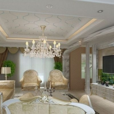 Белые тона гостиной