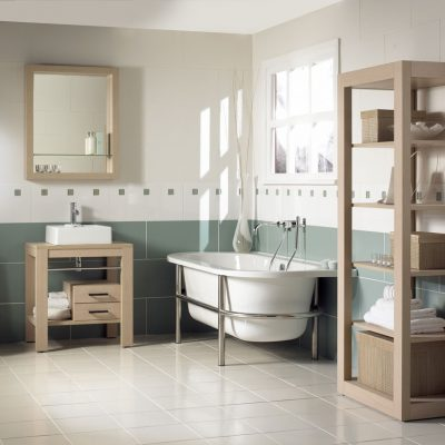 Вариант просторной ванной
