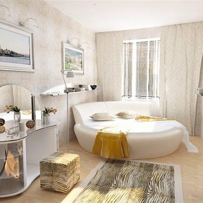 Красивая белая спальня