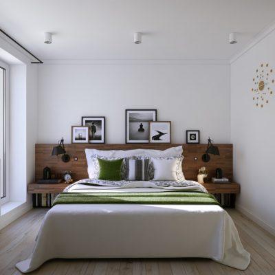 Кристально белая спальня