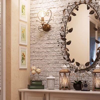 Зеркало прованс стиля в интерьере прохожей на фото