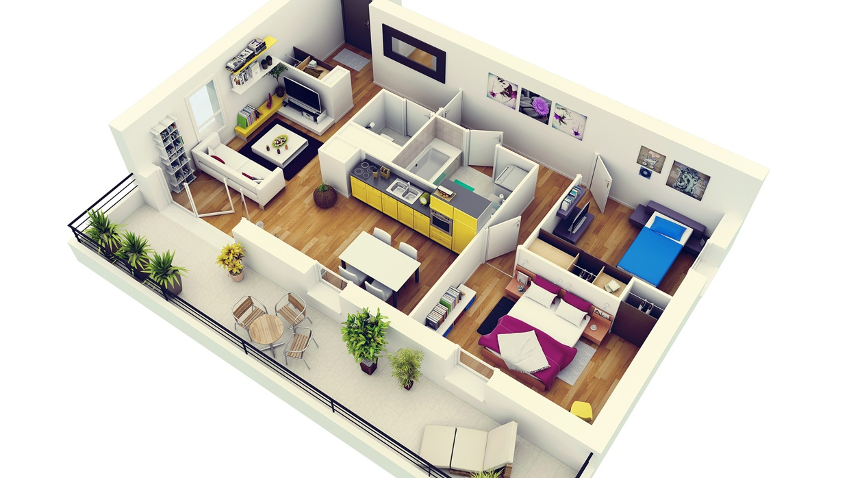 План квартиры в формате 3D