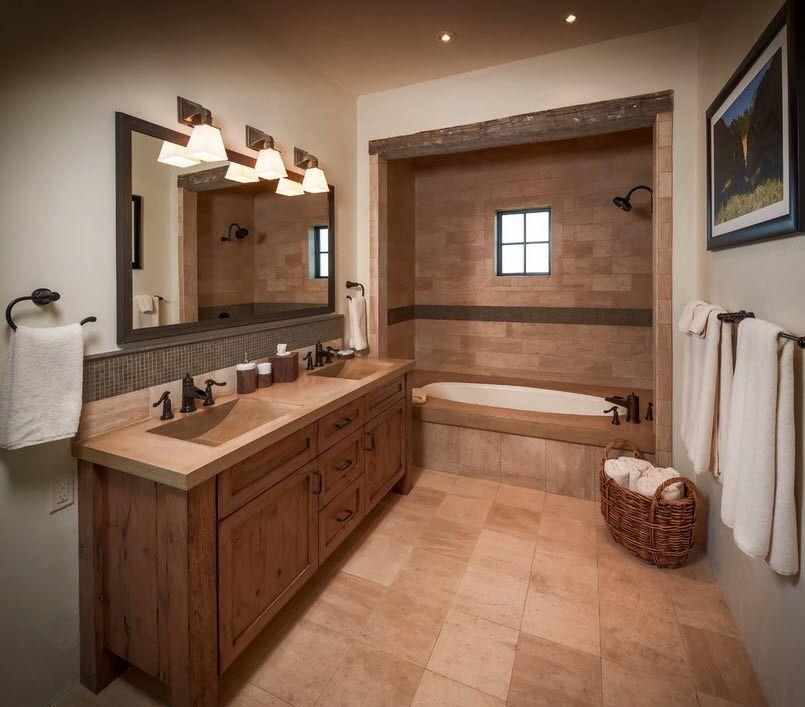 Расположение мебели в ванной