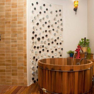 Бочка таза в ванной