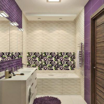 Фиолетовый модерн ванной