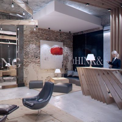 Современность кабинета стиля лофт