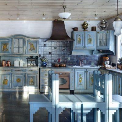 Пример кухни на фото в русскомстиле