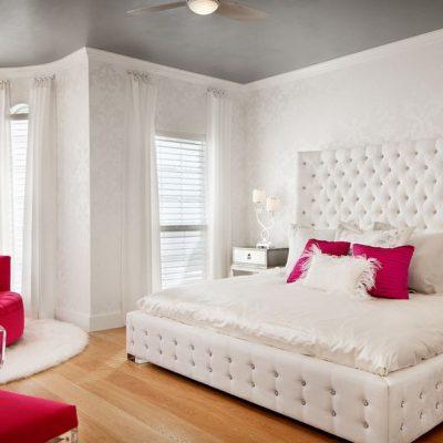 Модная отделка спальни
