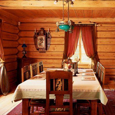 Шторы в русской кухне
