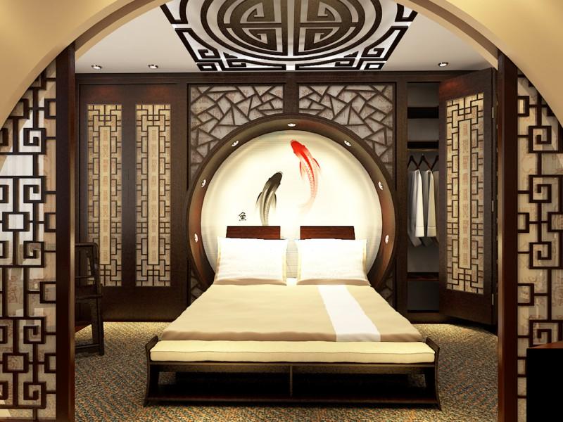 Необычный интерьер спальни