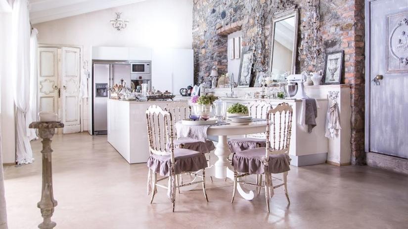 Кухня шебби-шик: особенности и оформление винтажного интерьера