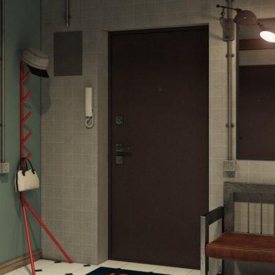 Дверь металлическая в стиле лофт