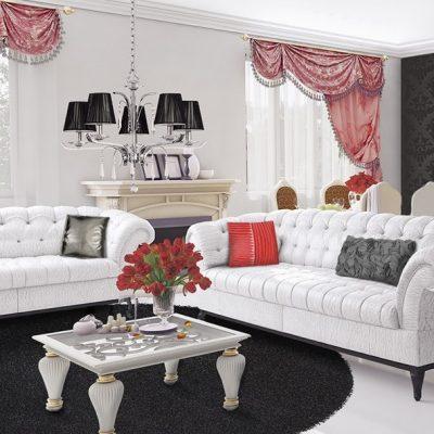 Мебель из белой софы борокко