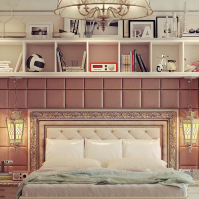 лассическая детская кровать в комнате