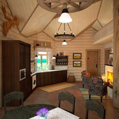 Вид на кухню на фото