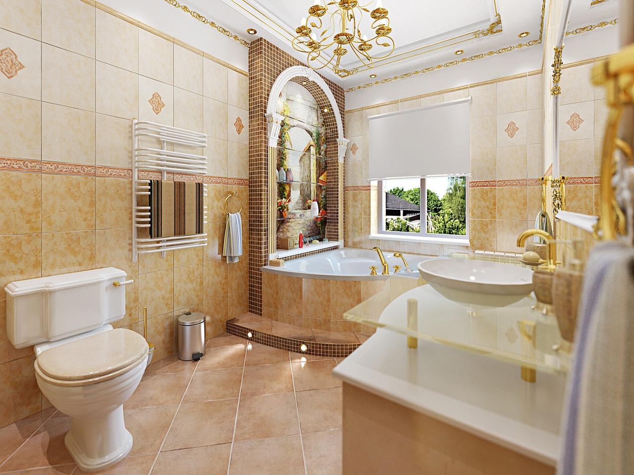 Просторная ванна