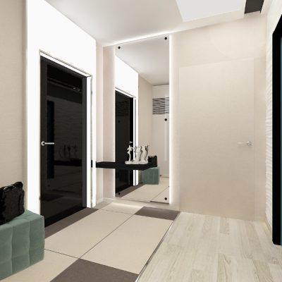 Черные двери в прихожей