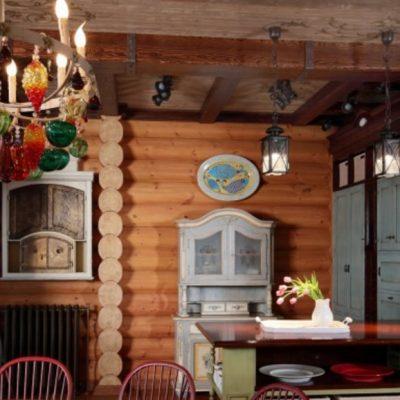 Кухня русского стиля из дерева