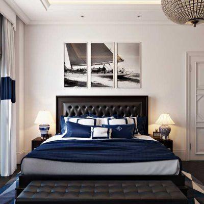 Строгость и классика спальни