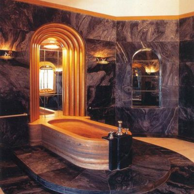 Овальная форма ванной