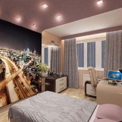 Стильная молодежная спальня