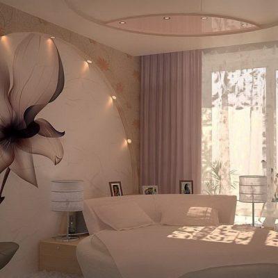 Спальня в интерьере комнаты на фото по фен шуй