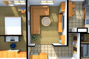 Планировка двух комнат