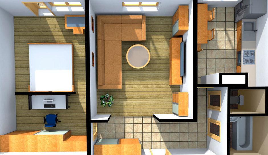 Перепланировка двухкомнатной квартиры: идеи и примеры