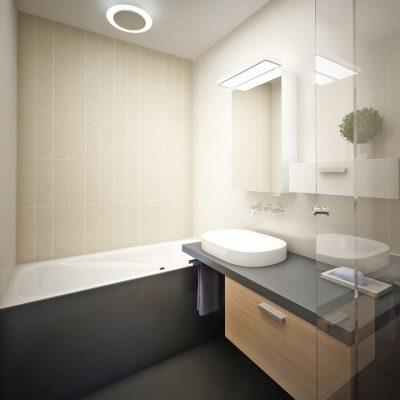 Расположение ванны в интерьере