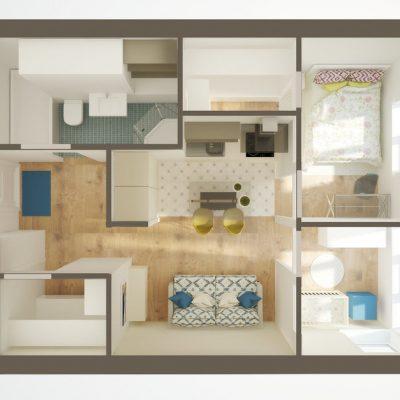 Просторной квартиры план